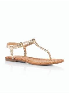 Cricket Metallic Braided Thong Sandals