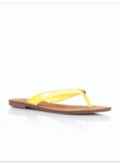 Mari Patent-Finished Flip Flops