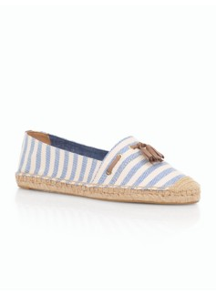 Ivy Striped Espadrille Flats