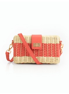 Woven Wicker Shoulder Bag