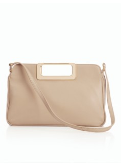 Cut-Out Handle Leather Bag