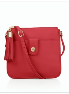 Tassel Zip-Top Crossbody Bag