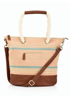 Stripe Canvas Weekender
