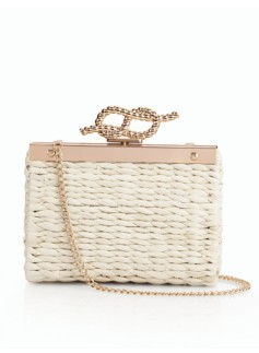 Sailor's-Knot Wicker Clutch