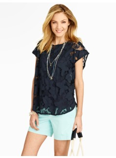Butterfly & Flower Lace Poncho