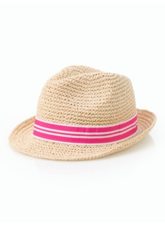 Crushable Straw Fedora