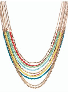 Bead Multi-Strand Necklace