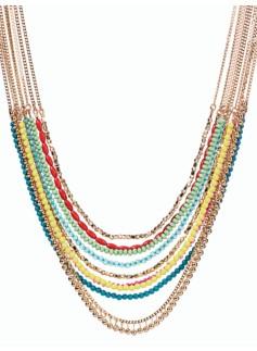Bead Multi-Strand Necklace