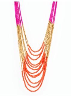Colorblocked Seedbead Necklace