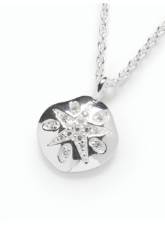 Sterling Silver Sand-Dollar Necklace