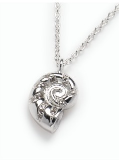Sterling Silver Nautilus Seashell Necklace