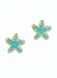 Bead Starfish Earrings