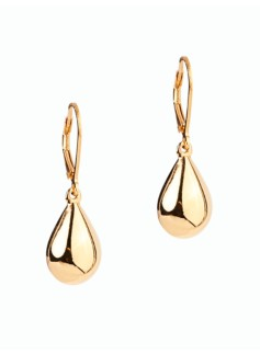 Gold-Plated Sterling Silver Tear-Drop Earrings