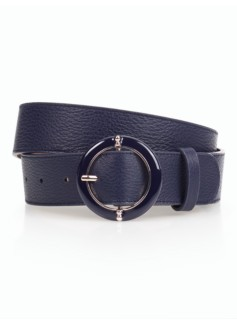 Round Enamel-Buckle Belt