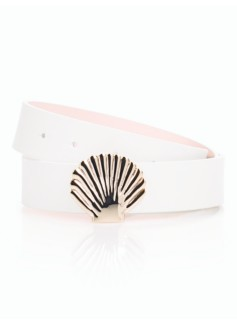 Womans Angelfish-Buckle Reversible Belt