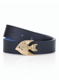 Woman?s Seashore-Buckle Reversible Belt