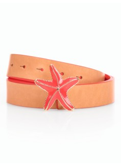Womans Starfish-Buckle Reversible Belt