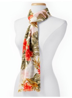 Jungle Hibiscus Scarf