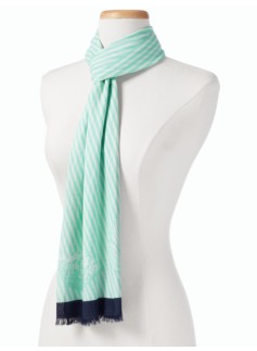 Stripes & Seashell Scarf