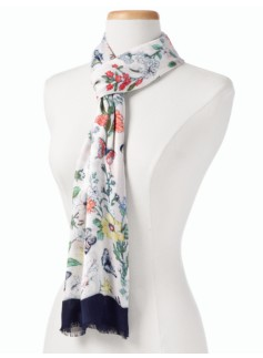 Botanical Flower Scarf