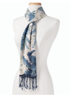 Tropical-Fern Toile Scarf