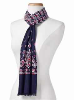 Dotted Paisley Scarf