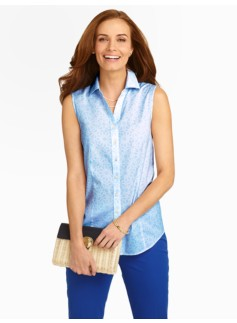 The Perfect Sleeveless Shirt: Pinwheel Mosaic