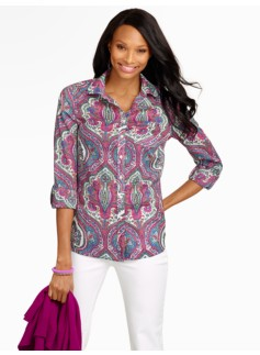 Modern Paisley Cotton Shirt