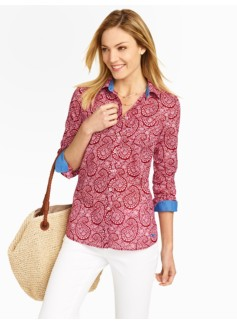 Flower Paisley Cotton Shirt