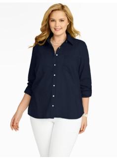Clipped Dots Cotton Shirt