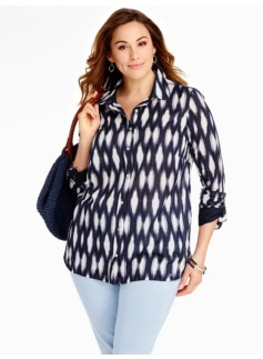 Diamond Ikat Cotton Shirt
