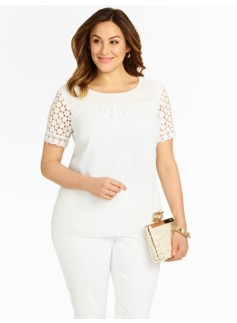 Lace & Georgette Blouse