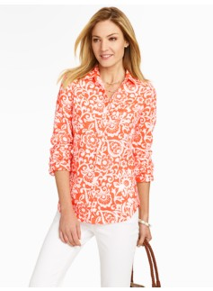 Woodblock Garden Linen Shirt