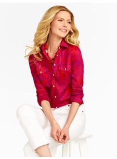 Island Woodblock Cotton Shirt