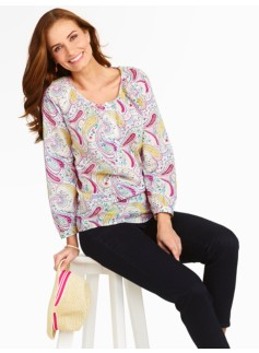 Countryside Paisley Dotted Swiss Popover