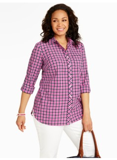 Sporty Checks Cotton Shirt