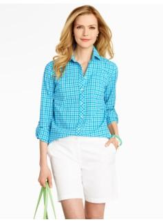 Sporty Checks Cotton Shirt
