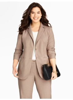 "26"" Seasonless Wool Two-Button Jacket"