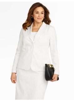 Bridget Pinstripe 2-Button Jacket