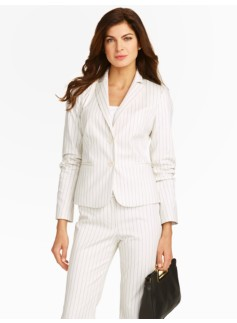 Bridget Pinstripe 2-Button Jacket