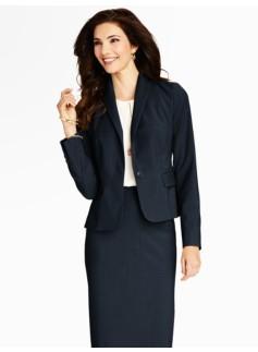 Seasonless Wool Single-Button Jacket