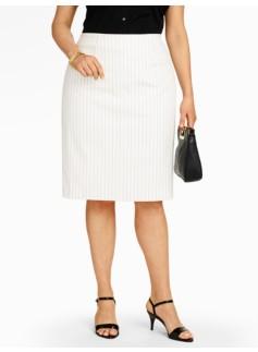 Bridget Pinstripe Pencil Skirt