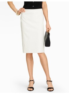 Bridget Pinstripe Pencil Skirt