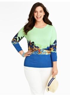 Island-Print Sweater