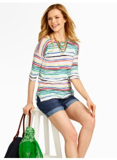 Painted Stripes Sweater