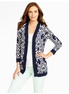 Kilim Diamond-Tapestry Cardigan
