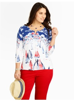 Sailboat Regatta Charming Cardigan