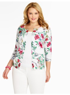 Botanical Floral Charming Cardigan