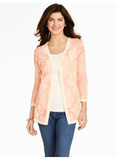 Dot Ornate Paisley Cardigan