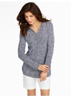 Marled Hoodie Sweater